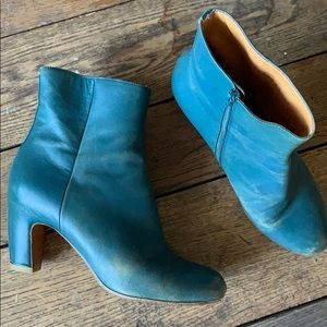 MM6 Green Hipster Booties Size 37
